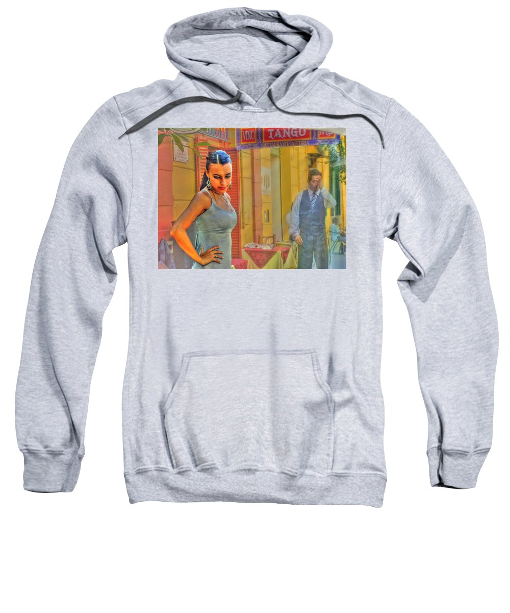 Tango Sweatshirt featuring the photograph Next Steps by Francisco Colon