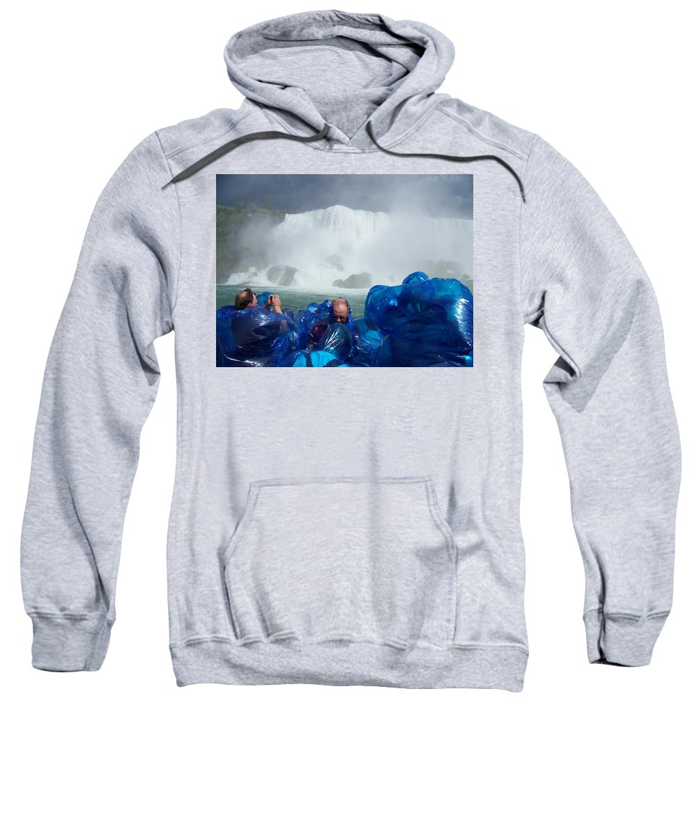 Sweatshirt featuring the photograph Niagra Falls Photographers by Laurie Paci