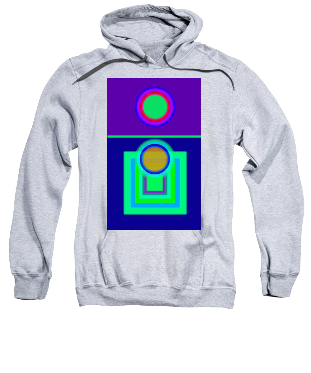 Classical Sweatshirt featuring the digital art Night Game by Charles Stuart