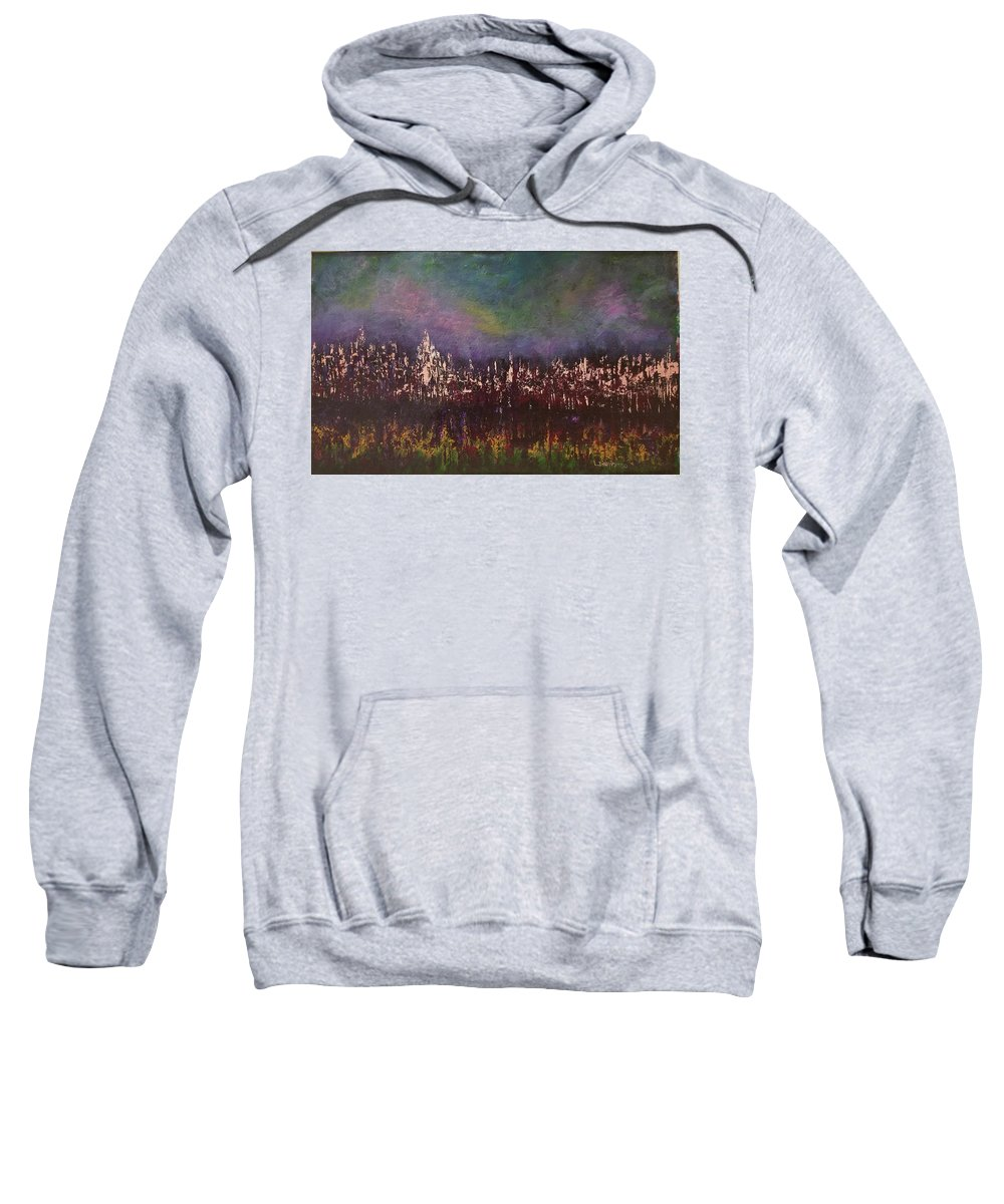 Acrylic Sweatshirt featuring the painting Night Reflections by Lugenia Dixon