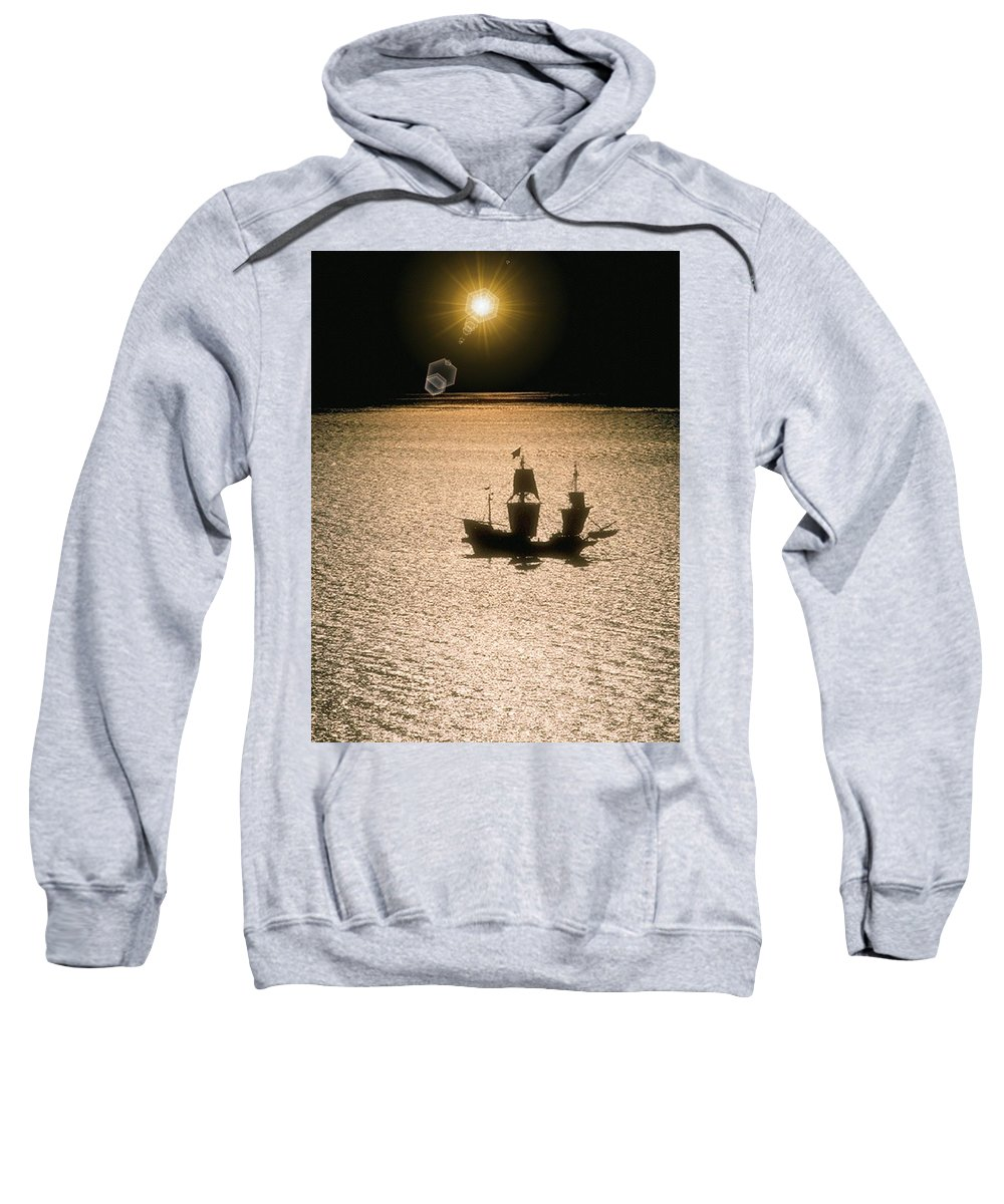 Sail Sweatshirt featuring the photograph Night Sail by Tim Allen