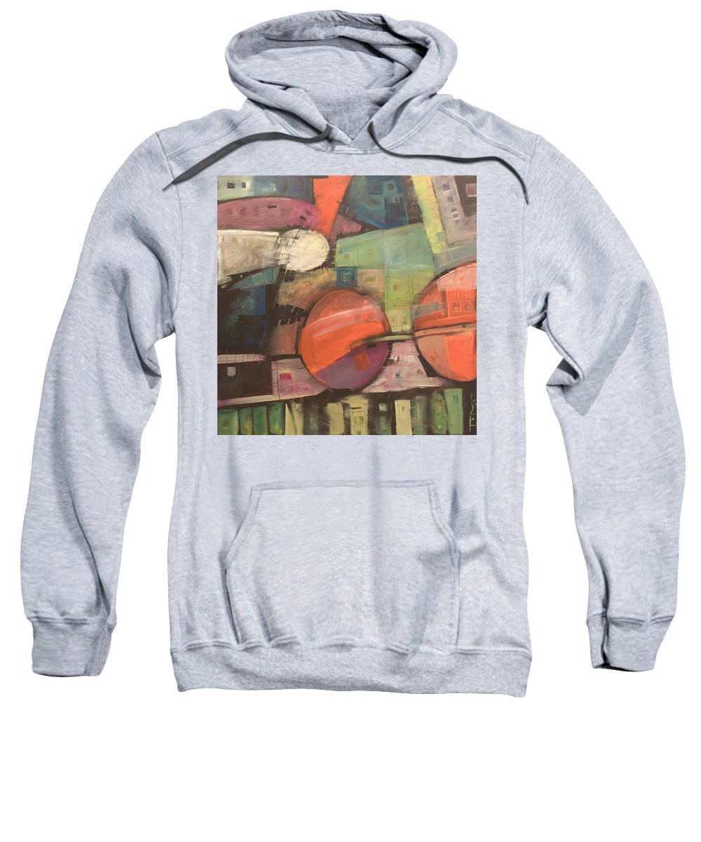 Train Sweatshirt featuring the painting Night Train by Tim Nyberg