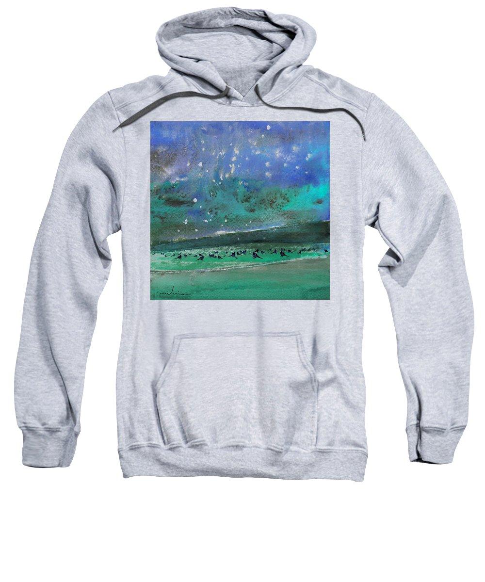 Impressionism Sweatshirt featuring the painting Nightfall 25 by Miki De Goodaboom