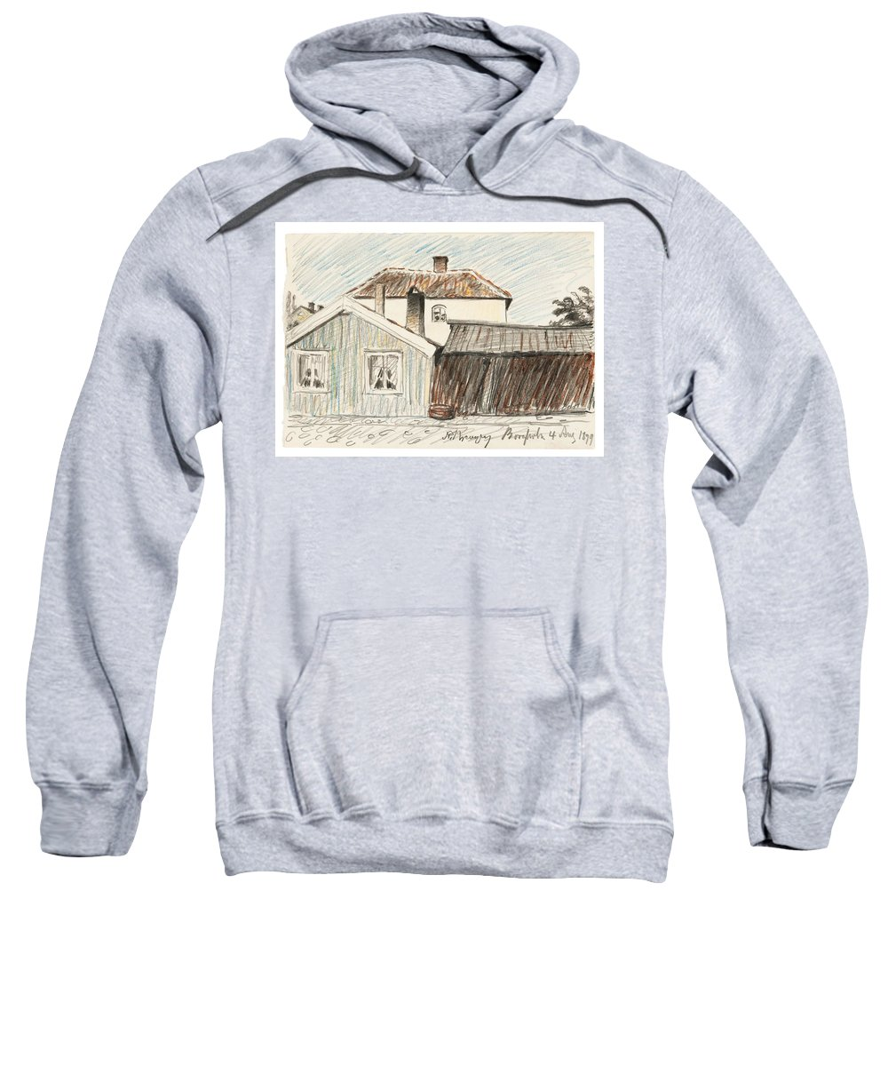 Nature Sweatshirt featuring the painting Nils Kreuger , Borgholm, Sweden. by Borgholm