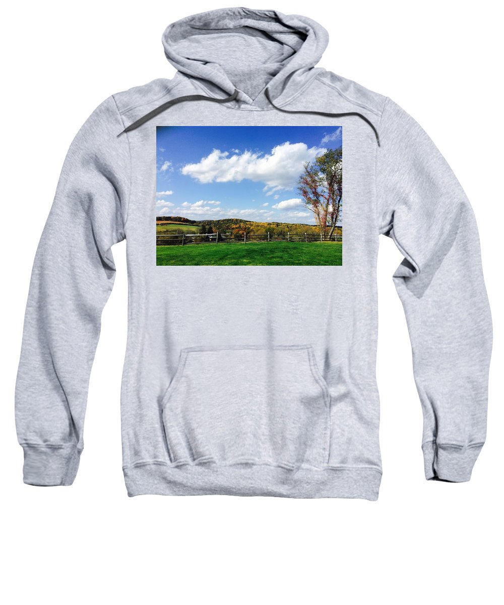 Autumn Sweatshirt featuring the photograph 17th Hole by Michael Malin