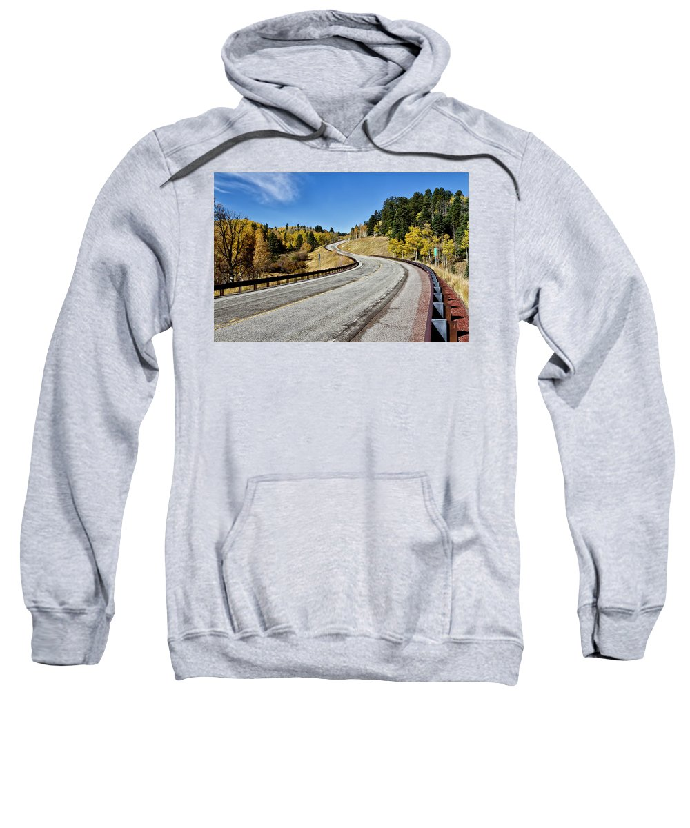 64 Sweatshirt featuring the photograph Nm Hwy 64 In The San Juan Mountains by Robert Woodward