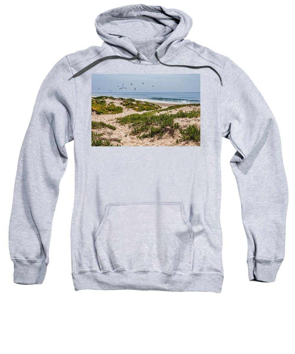 Carpinteria State Beach Sweatshirt featuring the photograph Carpinteria State Beach by Patti Deters