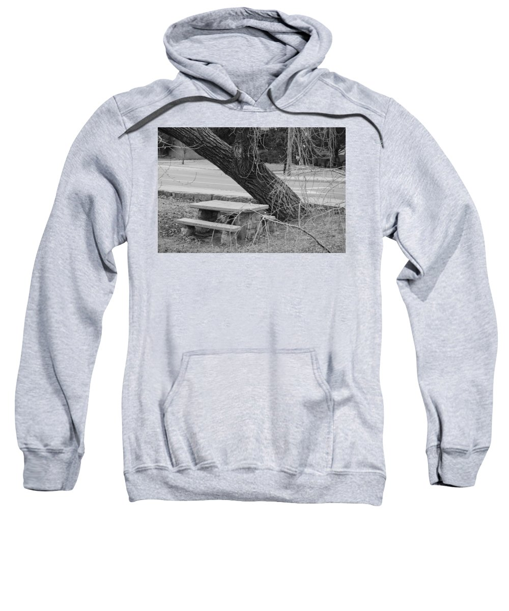 Trees Sweatshirt featuring the photograph No One Sits Here In Black And White by Rob Hans