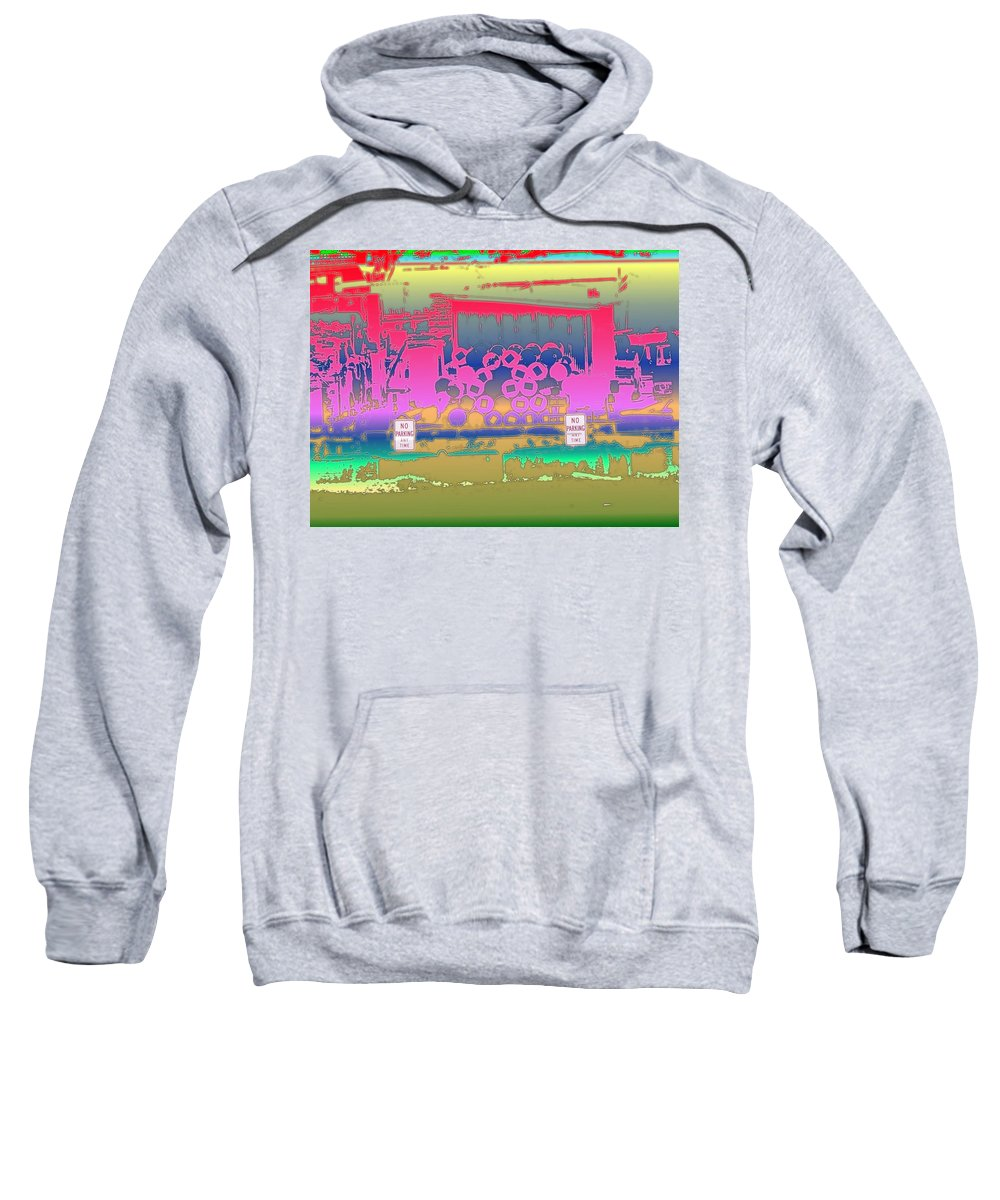 Seattle Sweatshirt featuring the photograph No Parking Anytime by Tim Allen