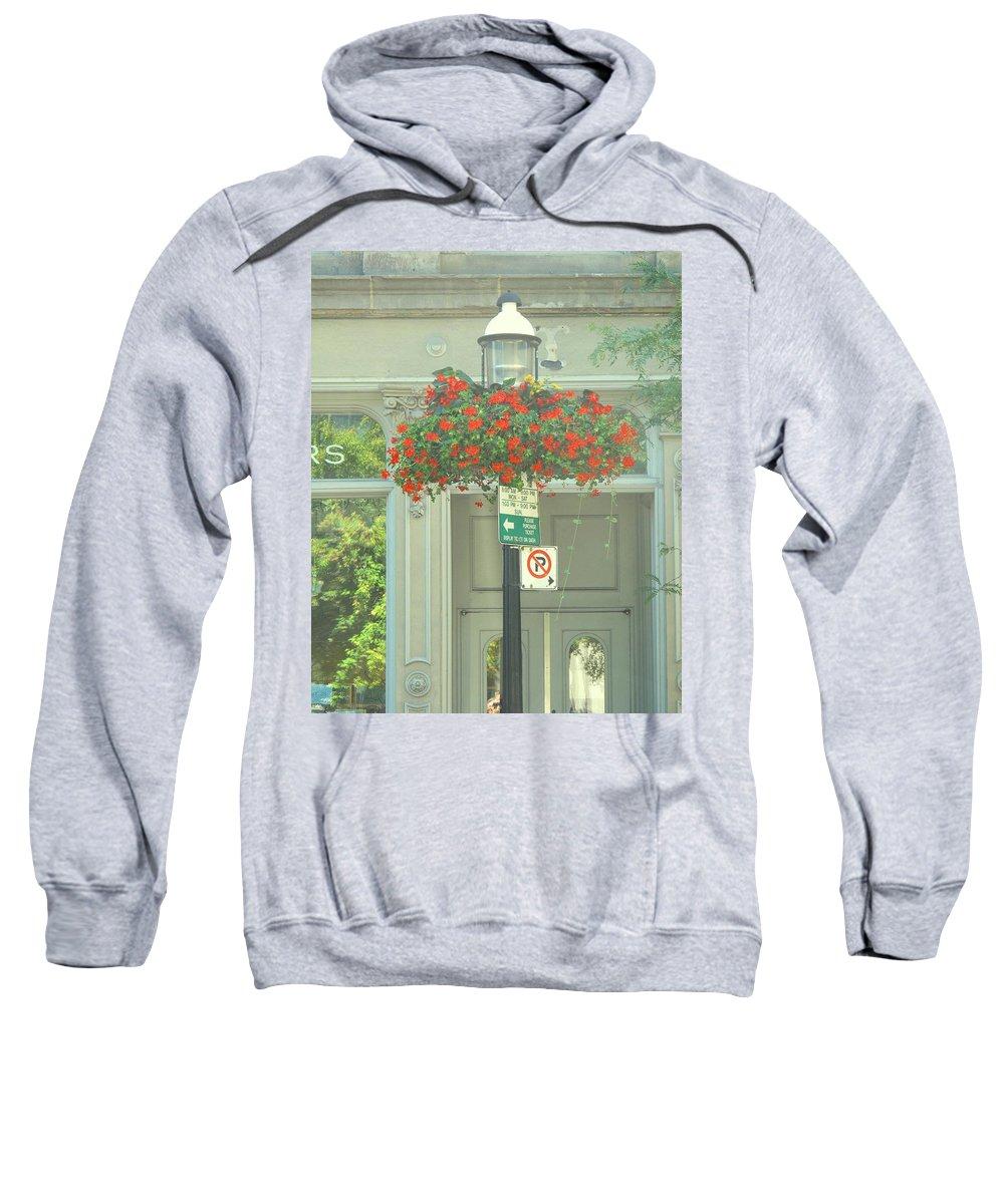 Sweatshirt featuring the photograph No Parking by Ian MacDonald