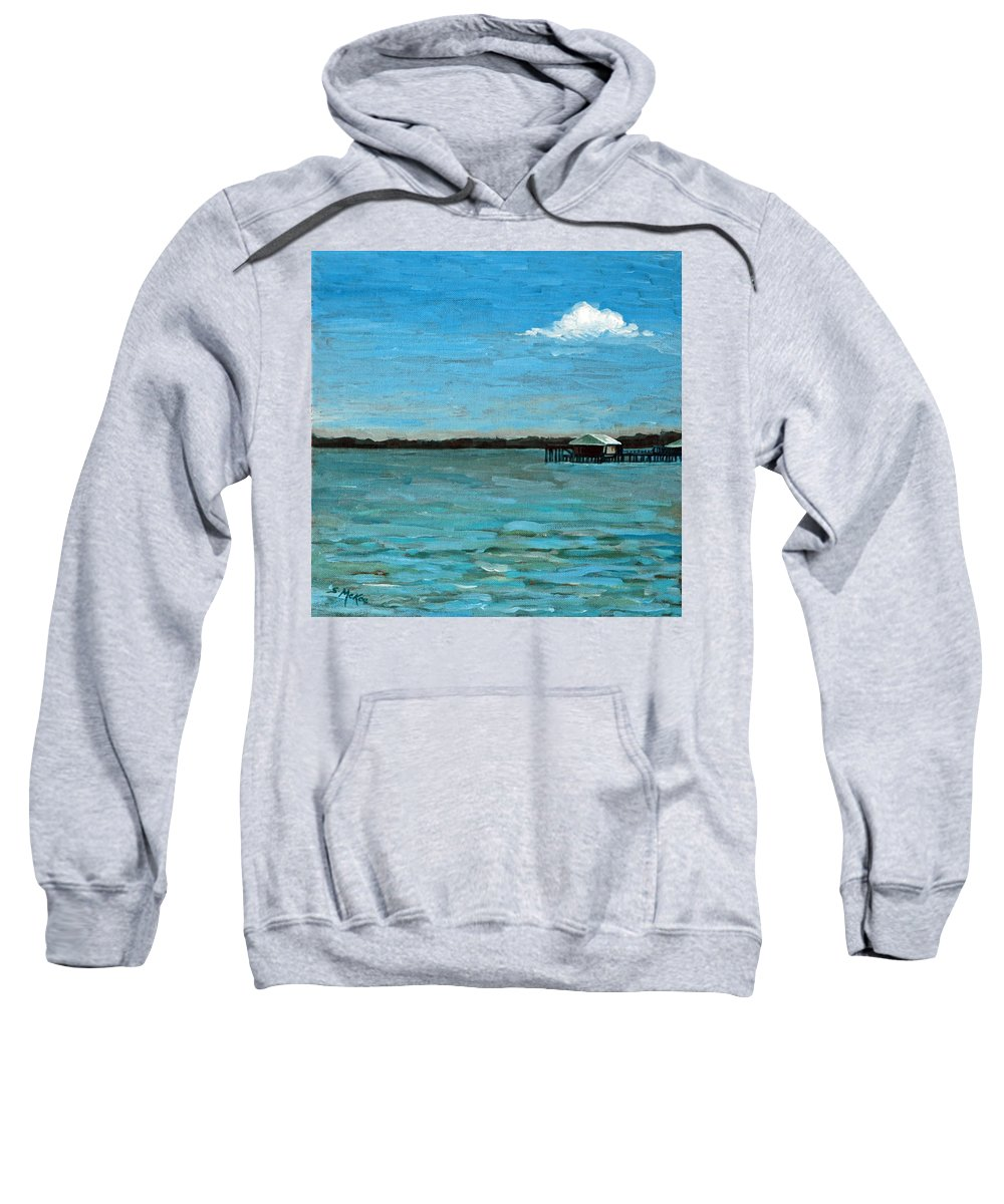 Acrylic Sweatshirt featuring the painting No Rain Today by Suzanne McKee