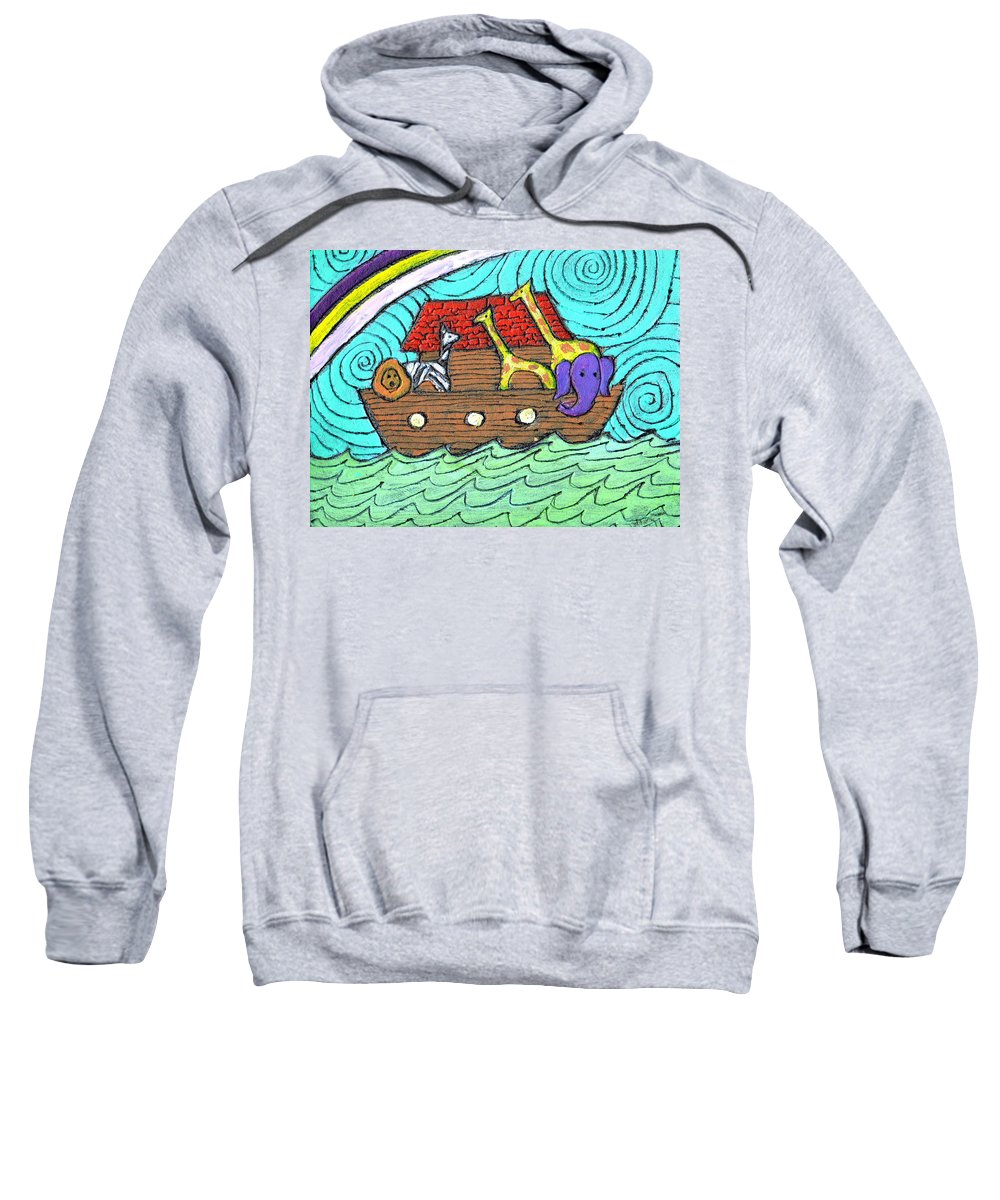 Children's Sweatshirt featuring the painting Noahs Ark Two by Wayne Potrafka