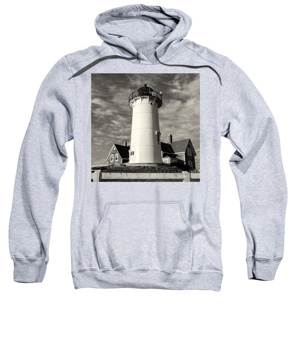 Nobska Lighthouse In Cape Cod Sweatshirt featuring the photograph Nobska Light by Stuart Monk