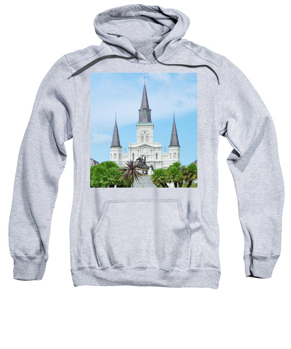 Nola Sweatshirt featuring the photograph Nola - Jackson Square by Bill Cannon
