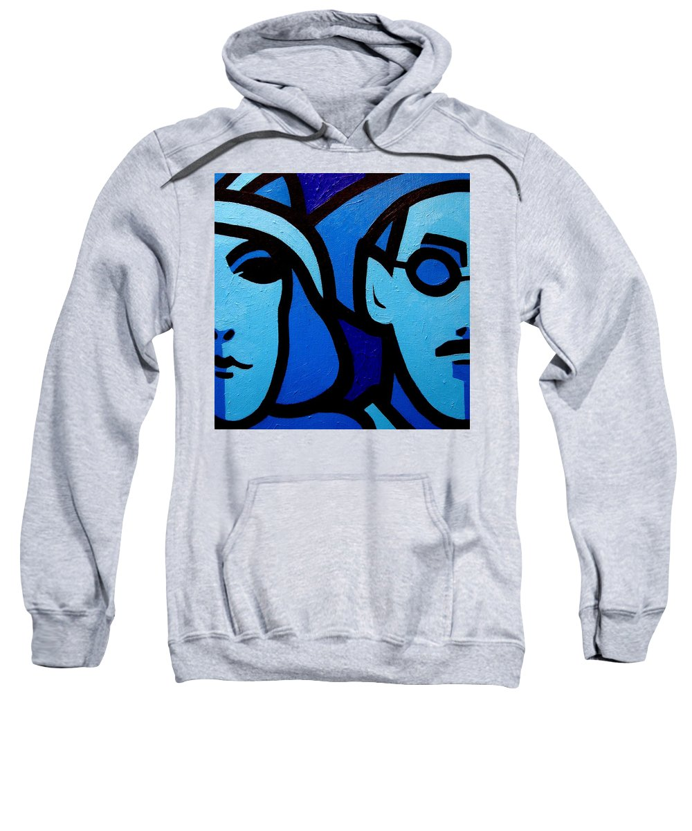Ulysses Sweatshirt featuring the painting Nora Barnacle And James Joyce by John Nolan