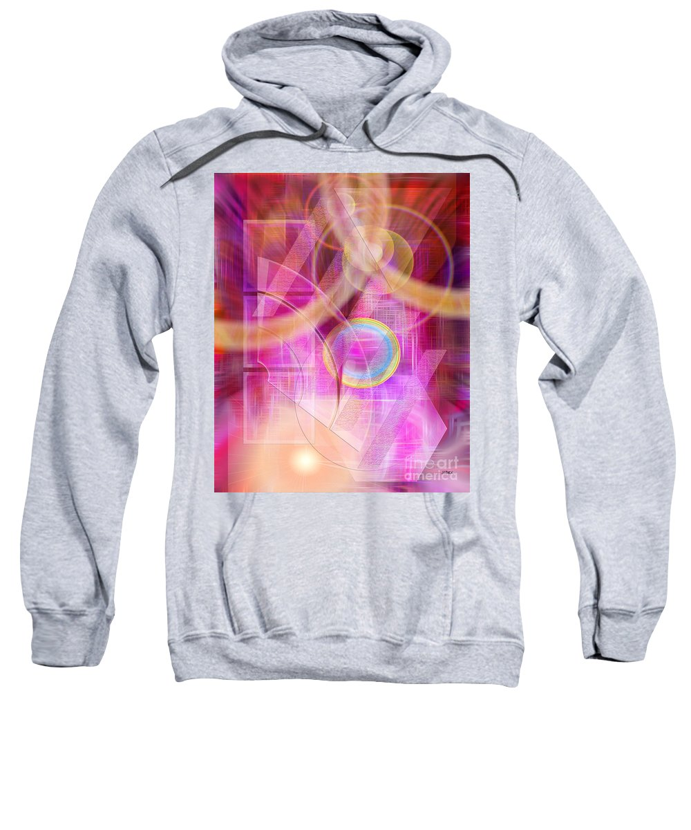 Northern Lights Sweatshirt featuring the digital art Northern Lights by John Beck