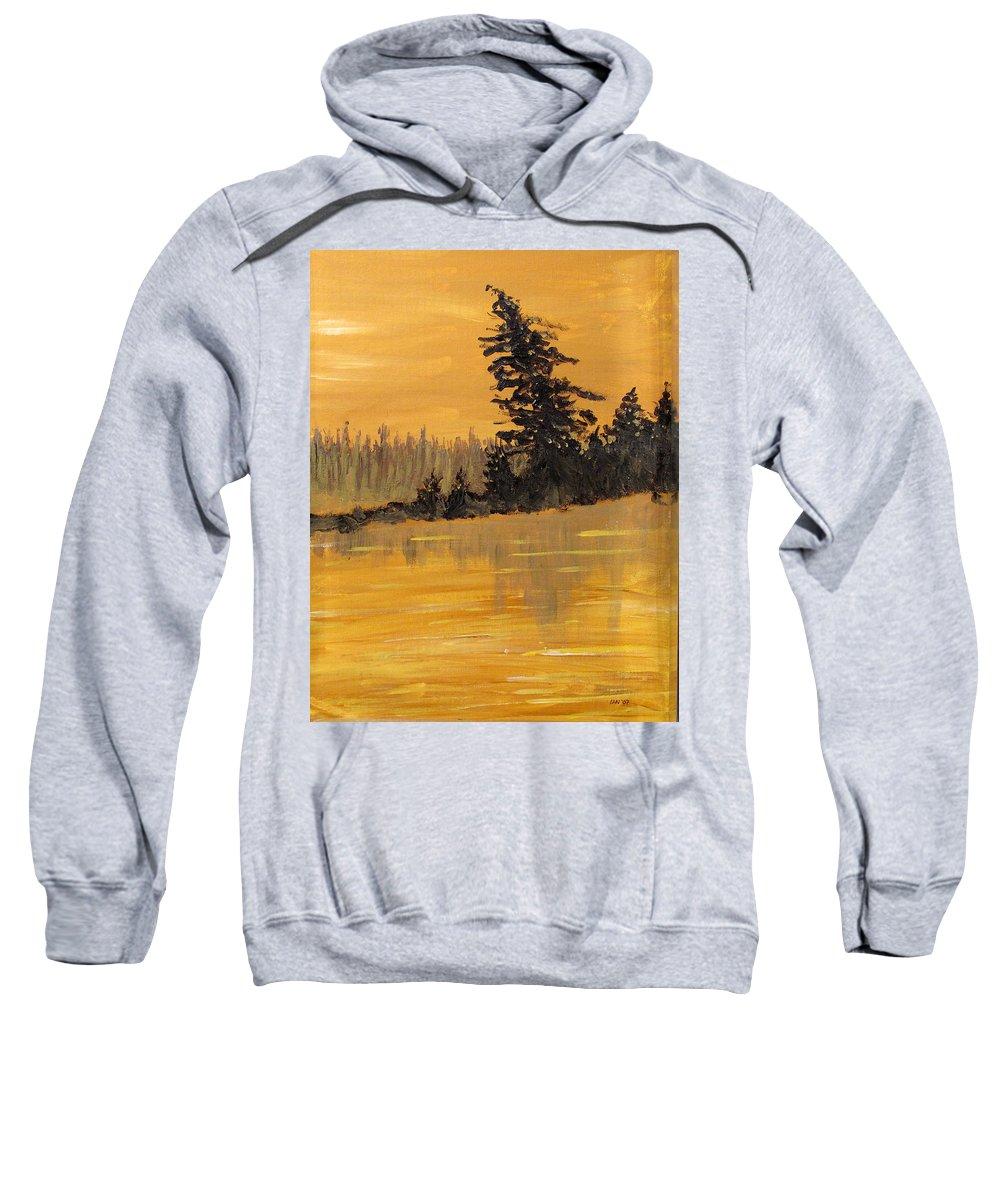 Northern Ontario Sweatshirt featuring the painting Northern Ontario Three by Ian MacDonald