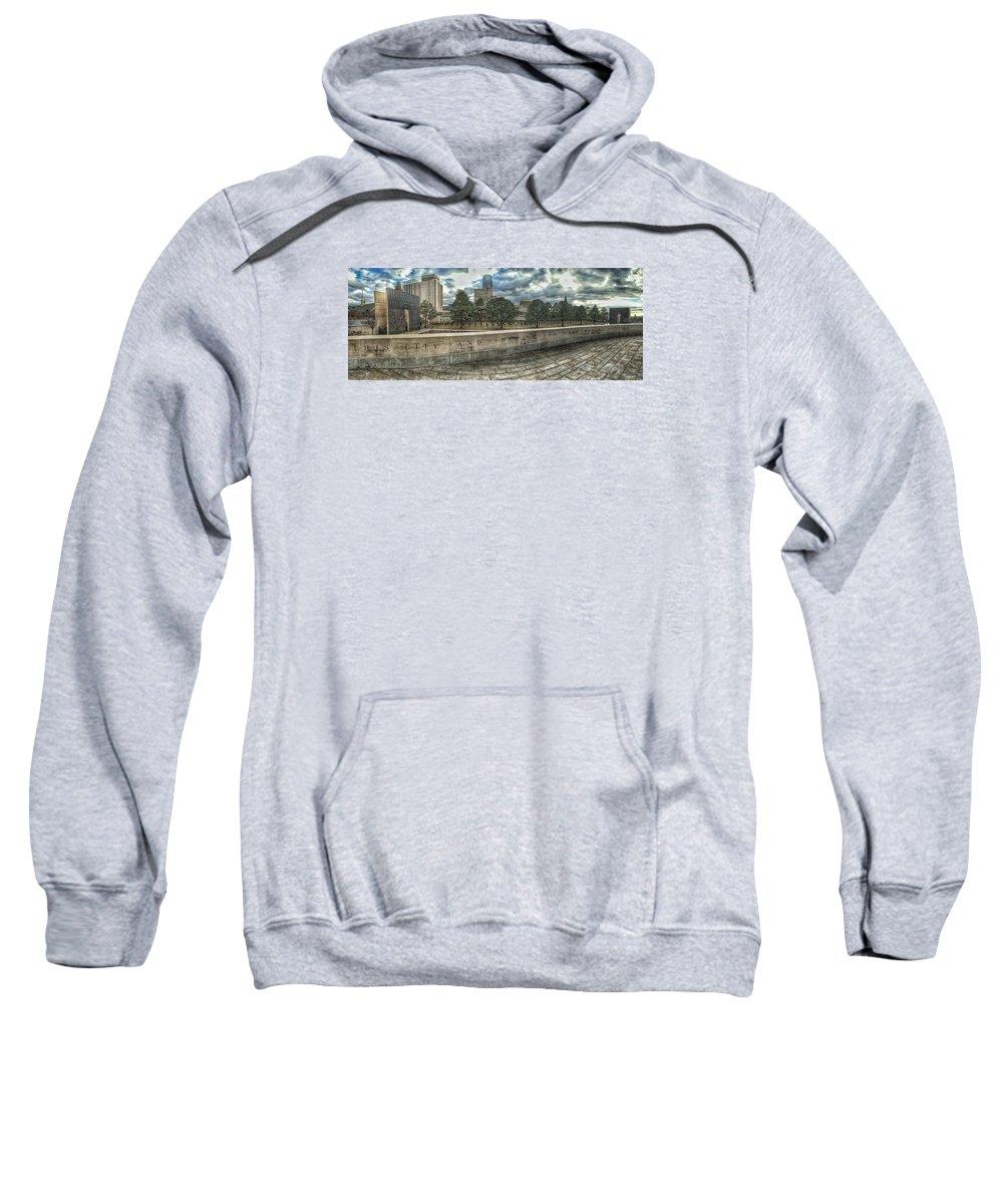 Okc Sweatshirt featuring the photograph Not Defeated by Buck Buchanan
