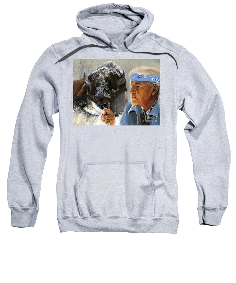 Southwest Art Sweatshirt featuring the painting Nothing Is Ever Forgotten by J W Baker