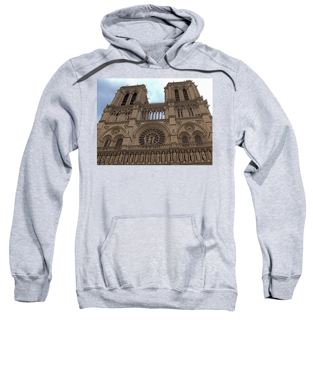 Architecture Sweatshirt featuring the photograph Notre-dame Cathedral by Mark Sellers