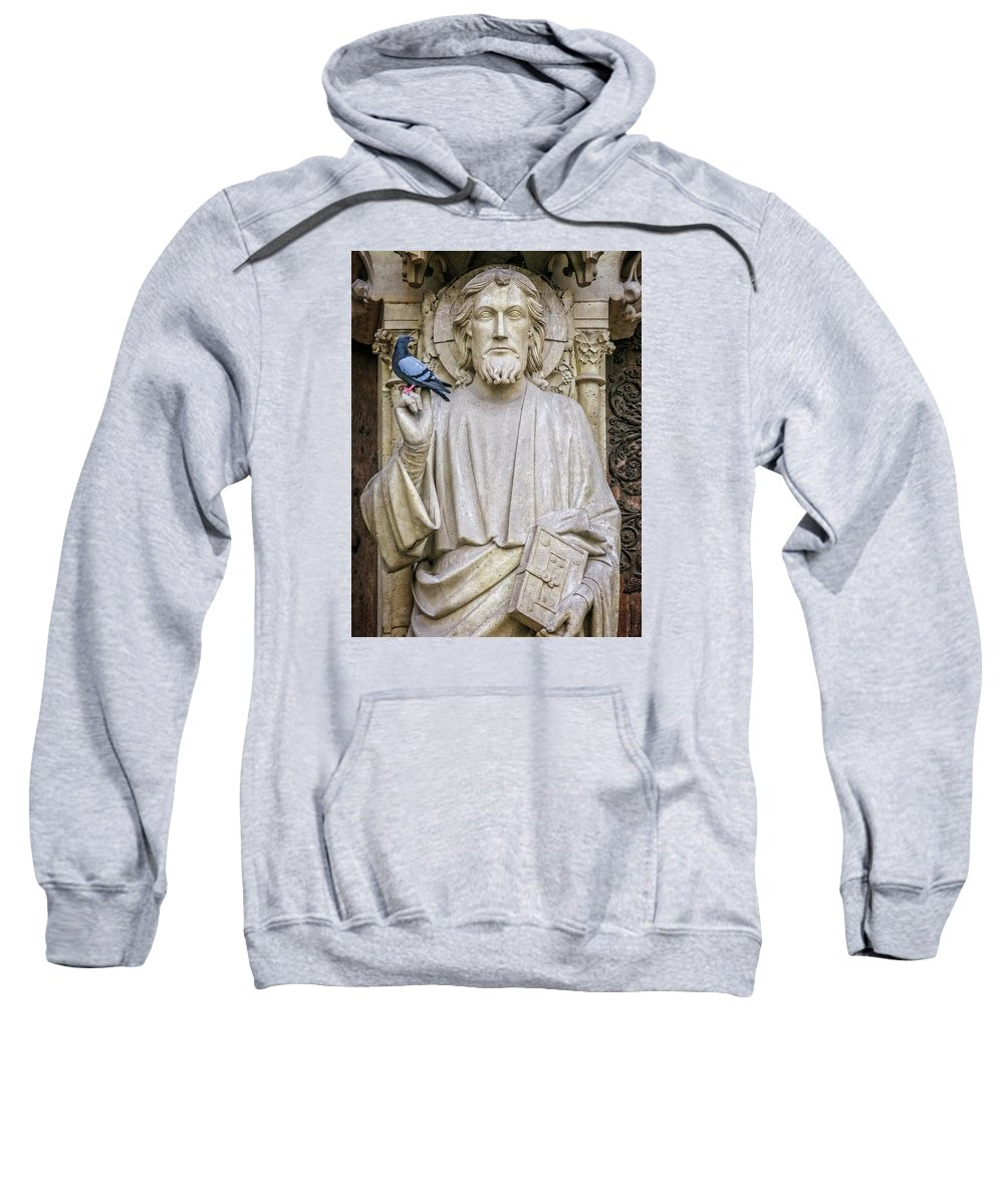 Paris Sweatshirt featuring the photograph Notre Dame Saint by David Thompson