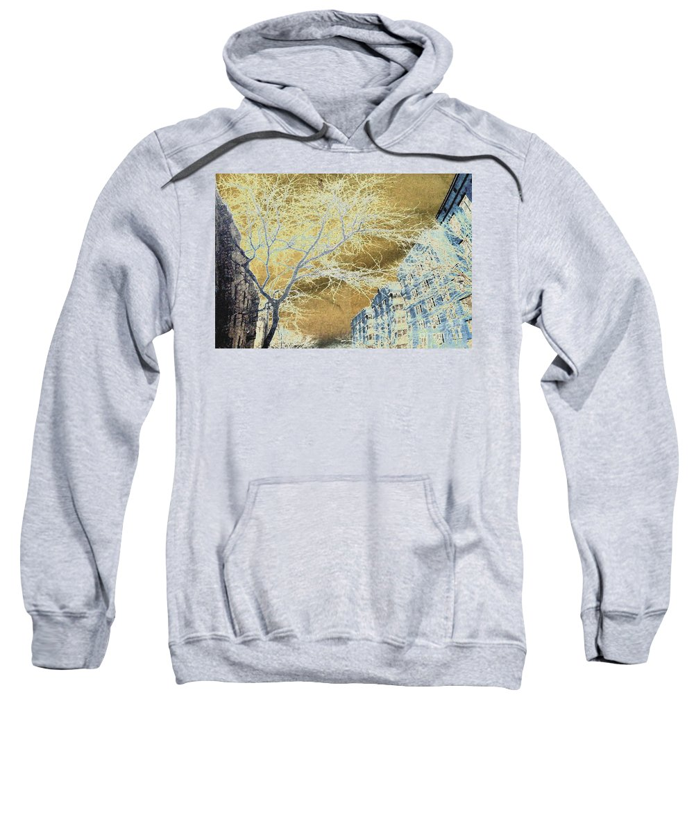 Buildings Sweatshirt featuring the photograph November In The Heights by Sarah Loft