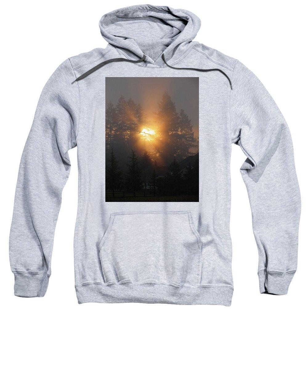 Sun Sweatshirt featuring the photograph November Sunrise - 1 by Shirley Heyn