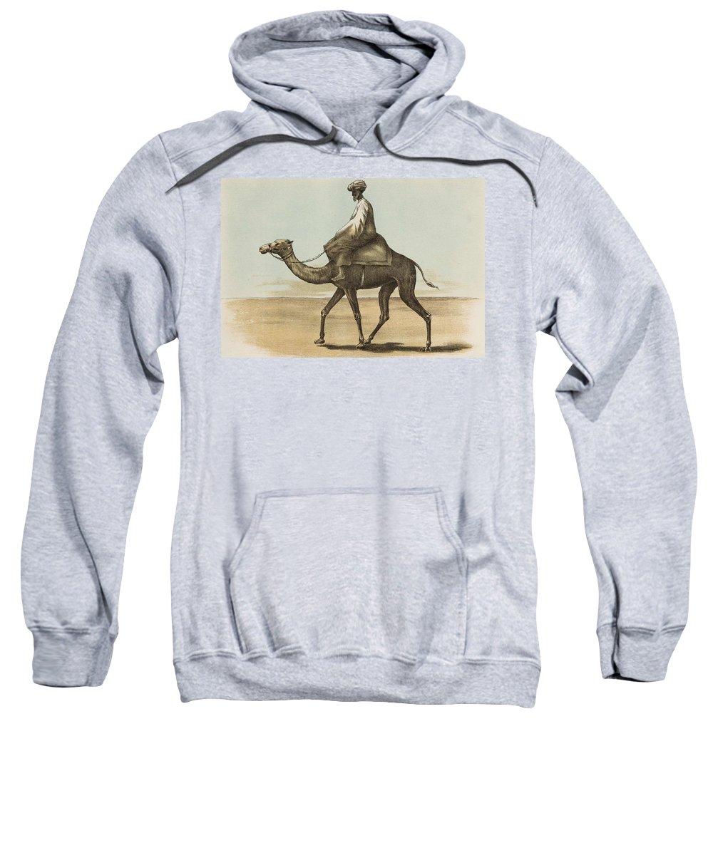 Man Sweatshirt featuring the painting Noyes, Edward , Riding Camel by Noyes Edward