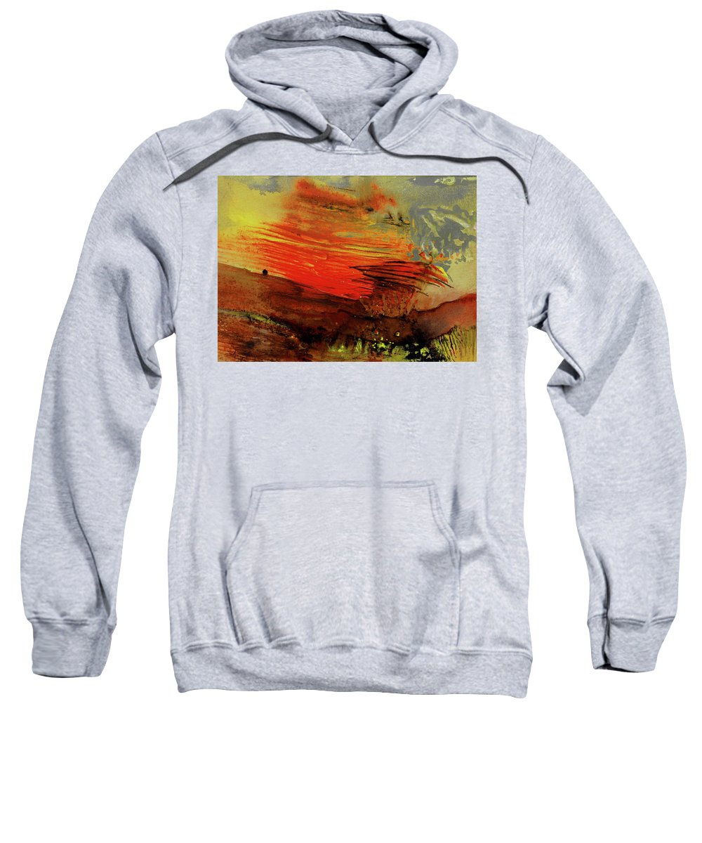 Impressionism Sweatshirt featuring the painting Nuclear Wind by Miki De Goodaboom