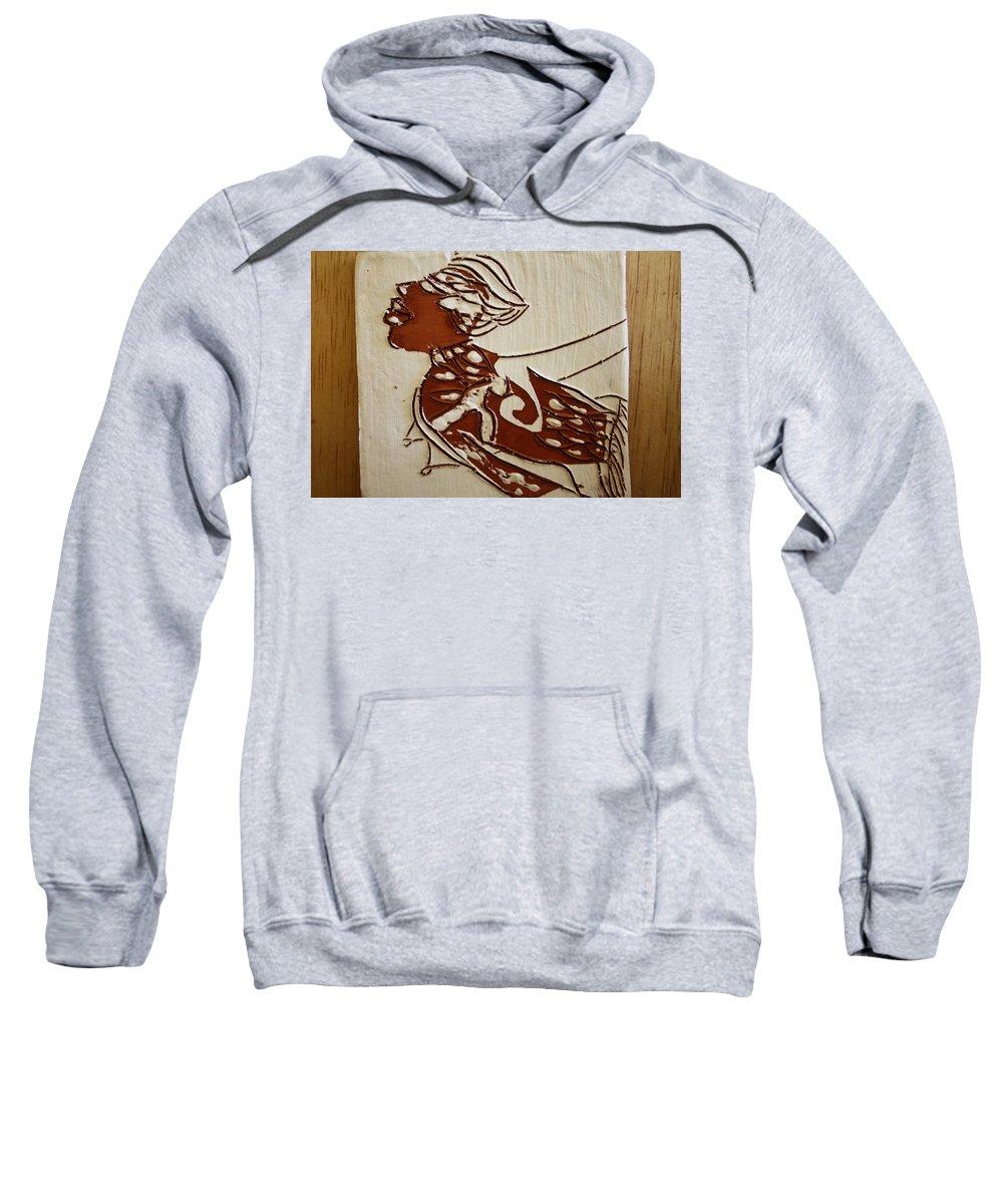 Jesus Sweatshirt featuring the ceramic art Nude 2 - Tile by Gloria Ssali