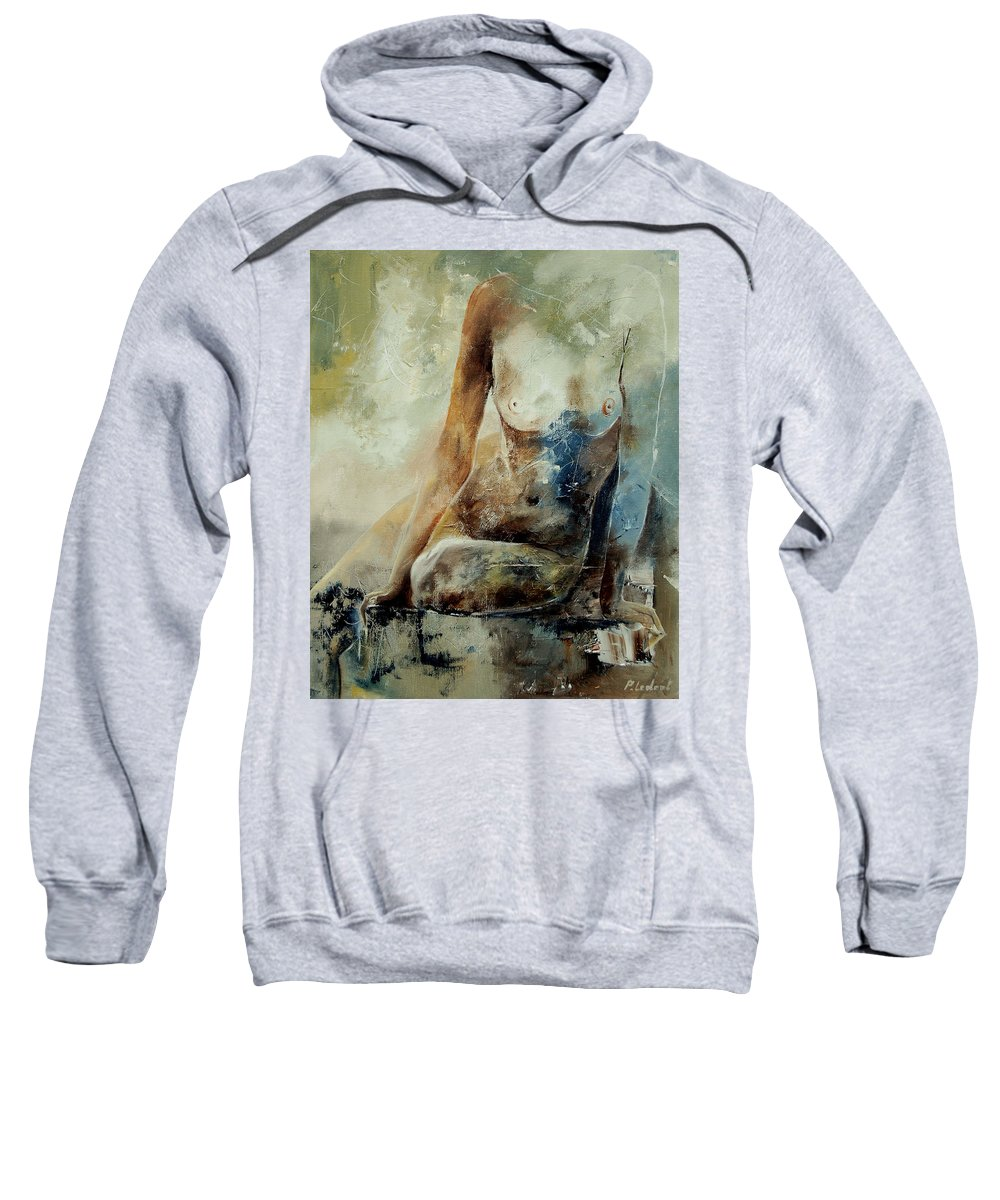 Nude Sweatshirt featuring the painting Nude 560408 by Pol Ledent