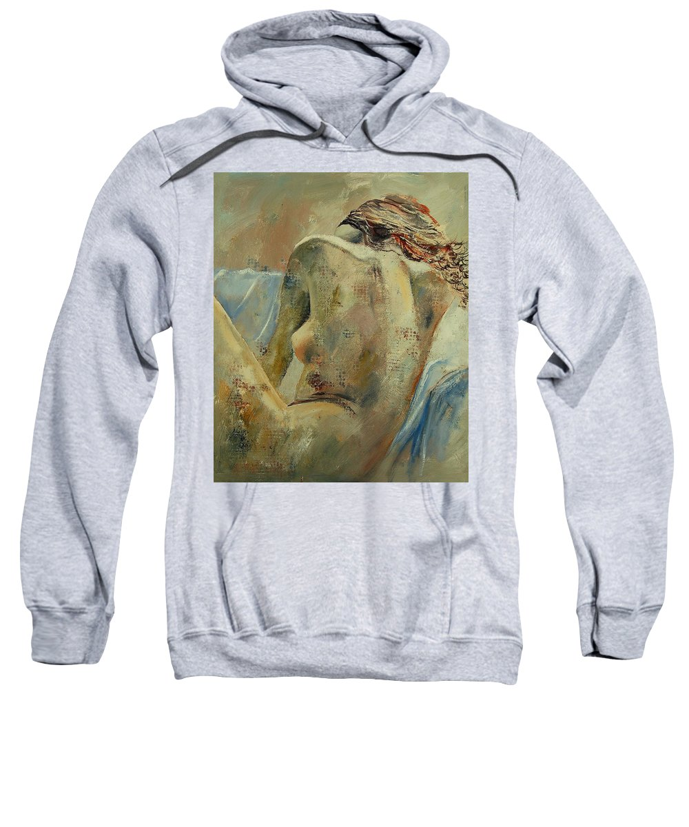 Sweatshirt featuring the painting Nude 56905092 by Pol Ledent