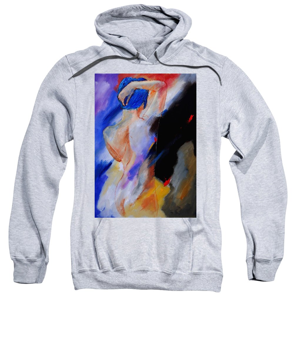 Nude Sweatshirt featuring the painting Nude 579020 by Pol Ledent