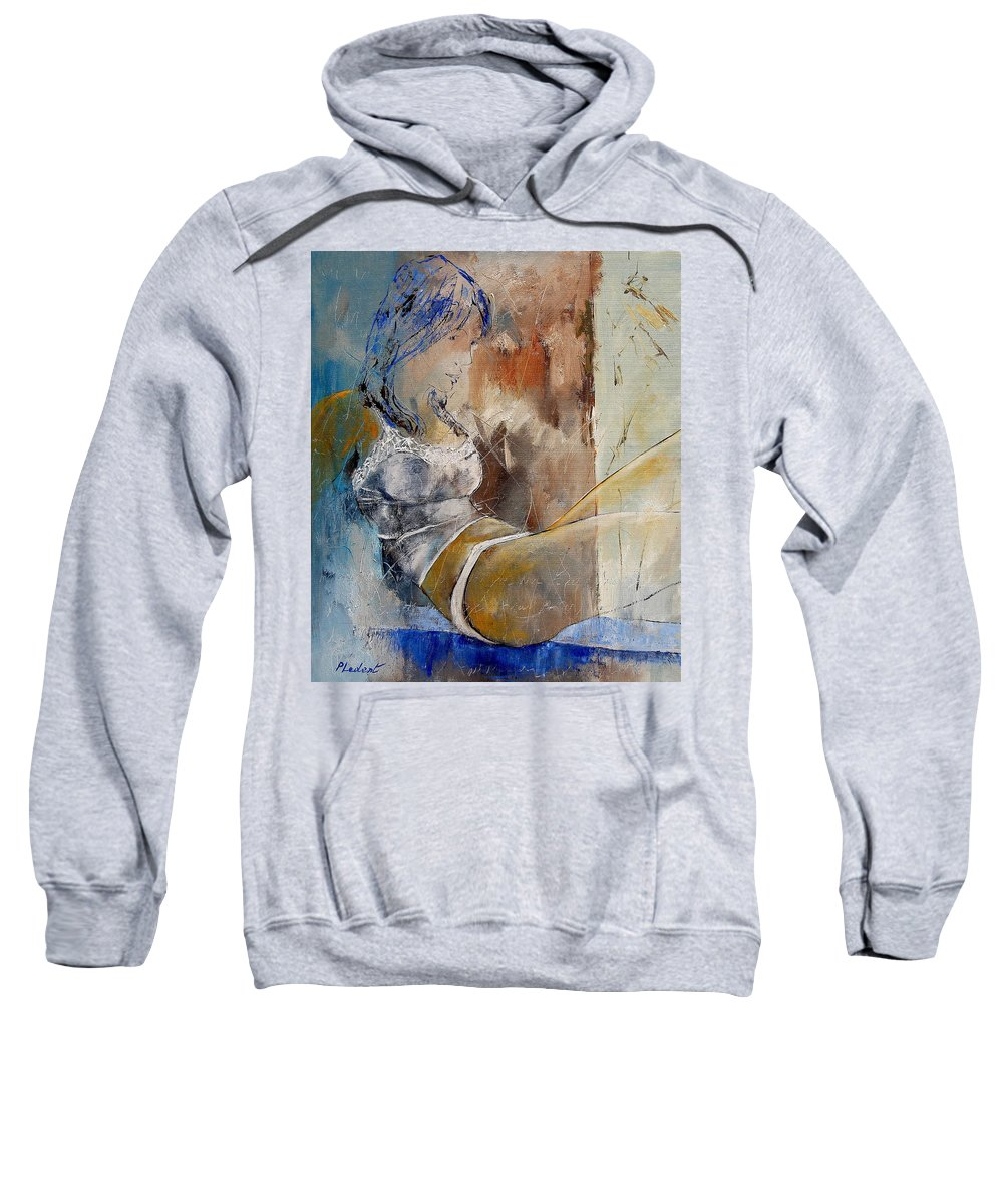 Nude Sweatshirt featuring the painting Nude 67524236 by Pol Ledent