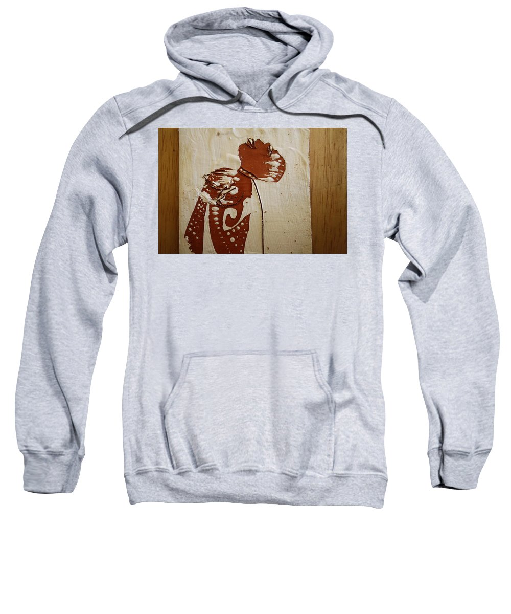 Jesus Sweatshirt featuring the ceramic art Nude 8 - Tile by Gloria Ssali