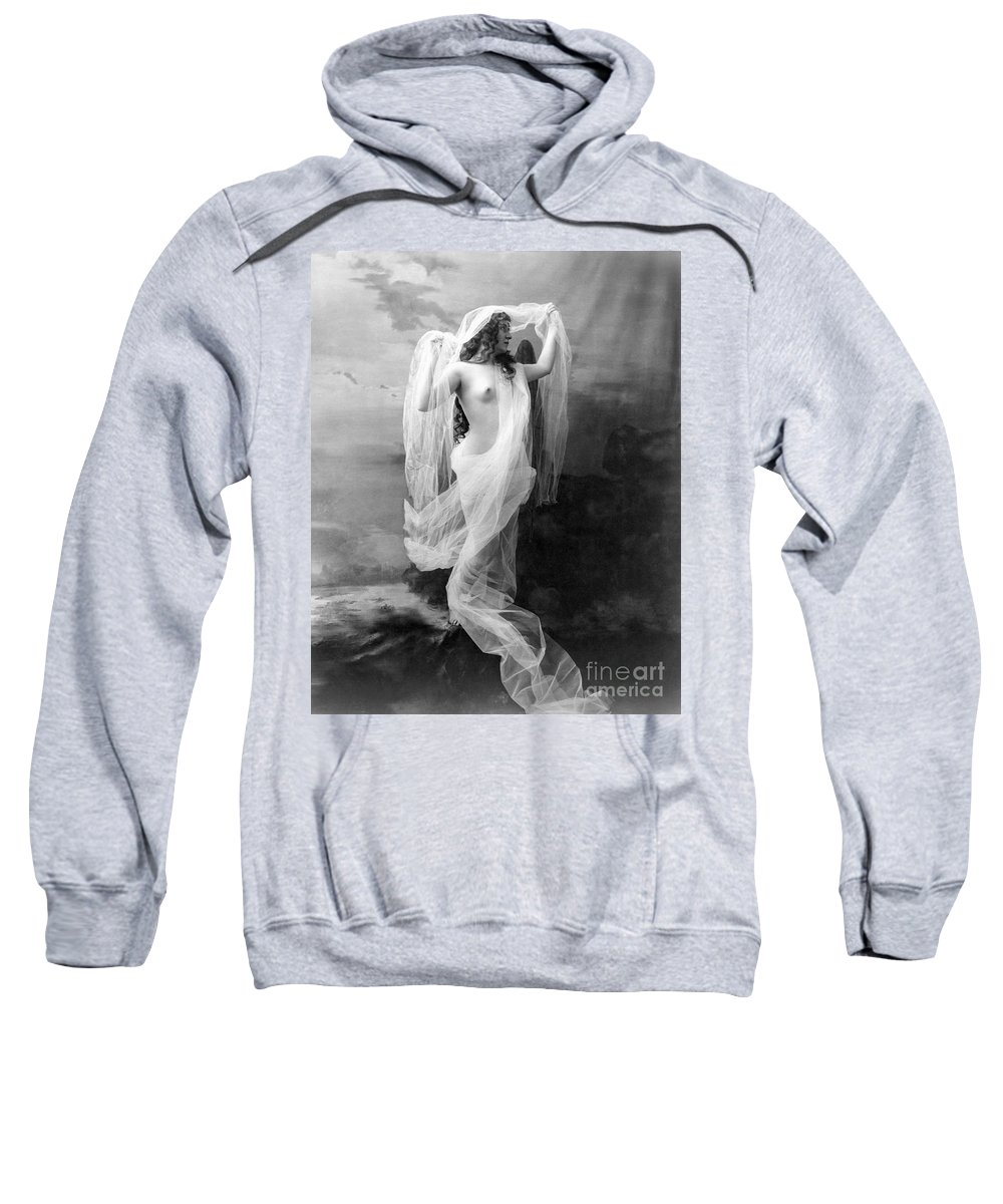 1900 Sweatshirt featuring the painting Nude, C1900 by Granger