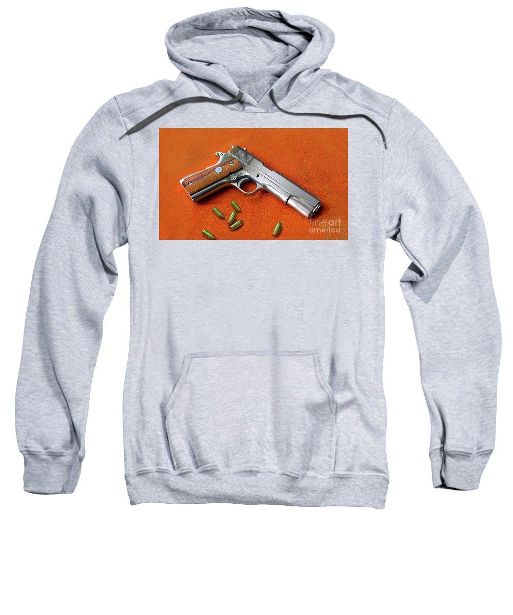 Colt Sweatshirt featuring the digital art Nude Colt 45 by Mitch Cornacchia