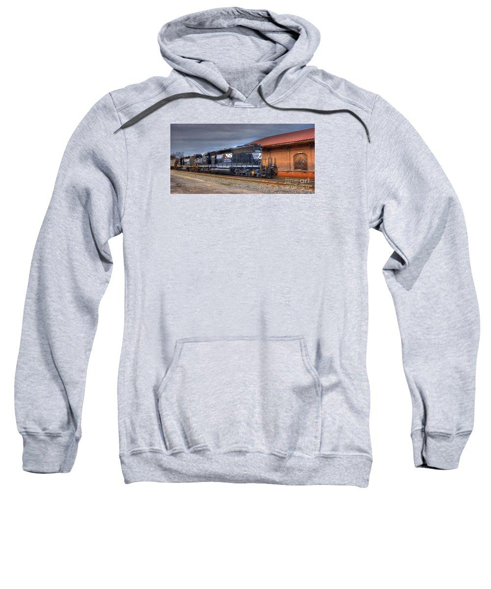 Reid Callaway Number1637 Dash One Sweatshirt featuring the photograph Number 1637 Dash One by Reid Callaway