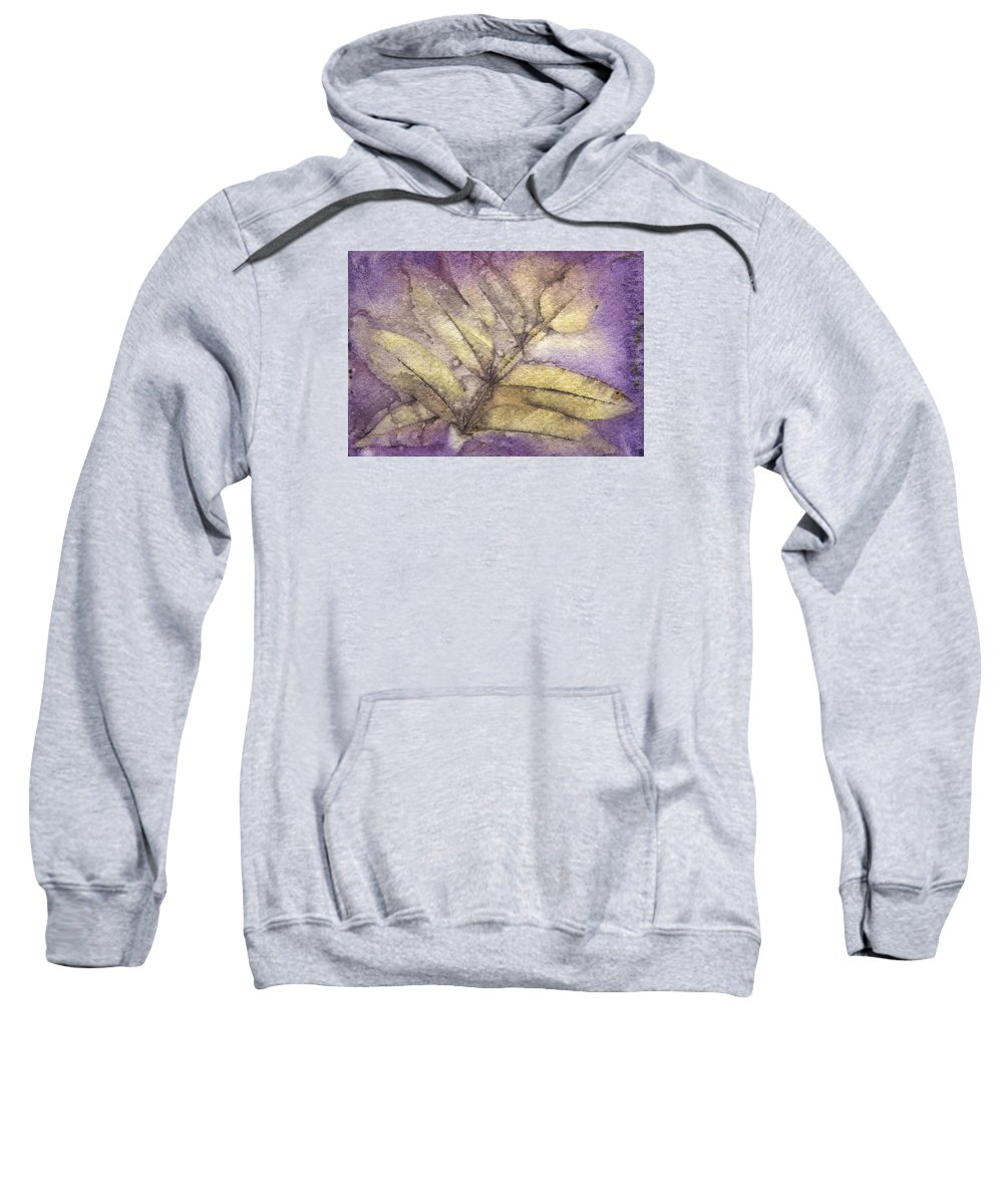 Jan Sweatshirt featuring the mixed media Number 36 by Jan Durham