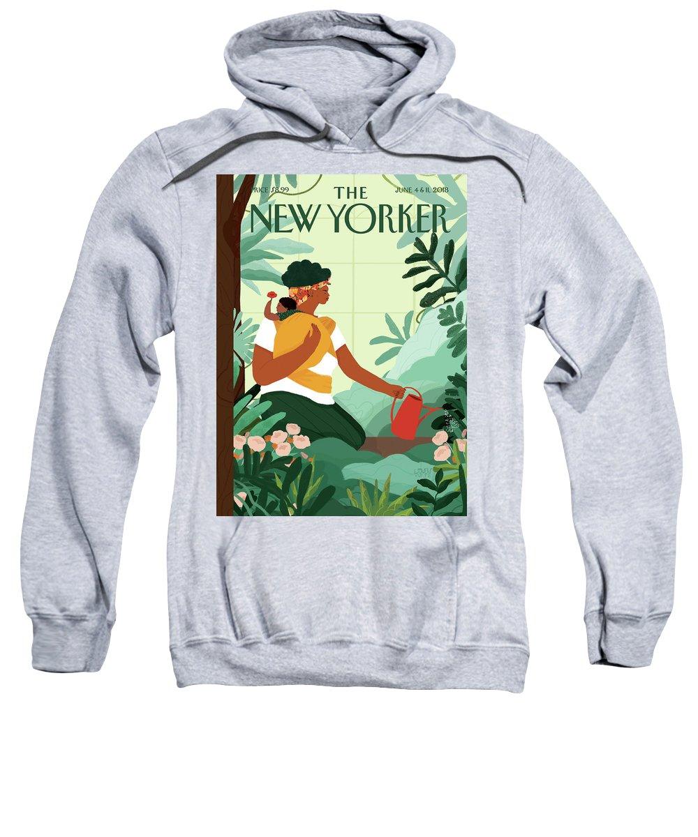 Nurture Sweatshirt featuring the painting Nurture by Loveis Wise