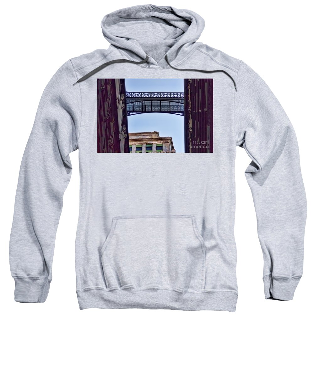 Nyc Sweatshirt featuring the photograph Ny Architecture Connection by Chuck Kuhn