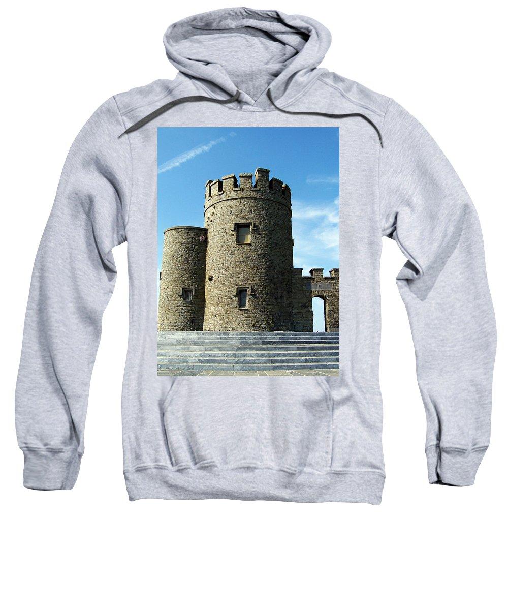 Irish Sweatshirt featuring the photograph O Brien's Tower Cliffs Of Moher Ireland by Teresa Mucha