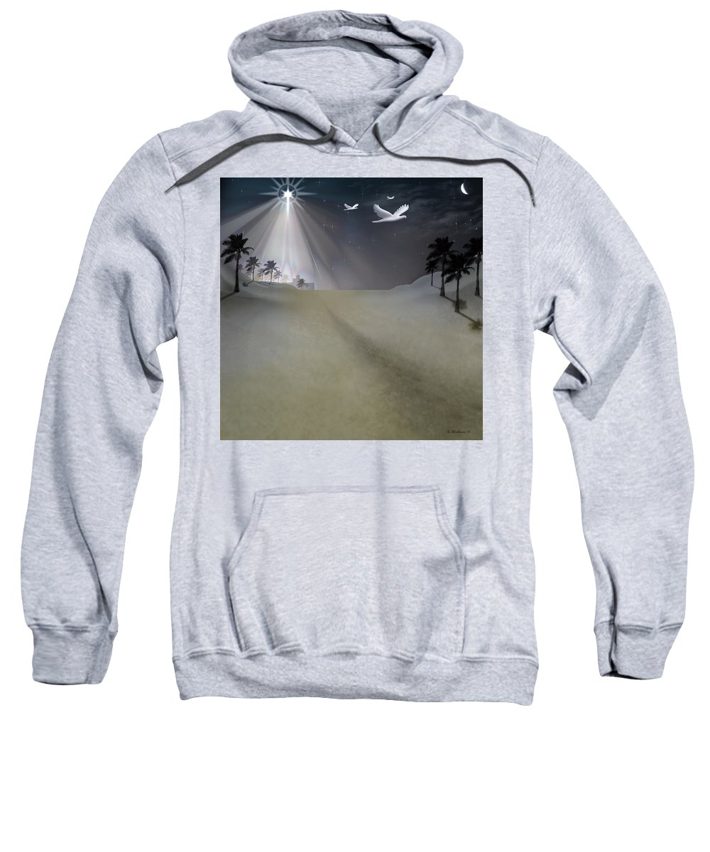 Brian Wallace Sweatshirt featuring the digital art O Little Town by Brian Wallace
