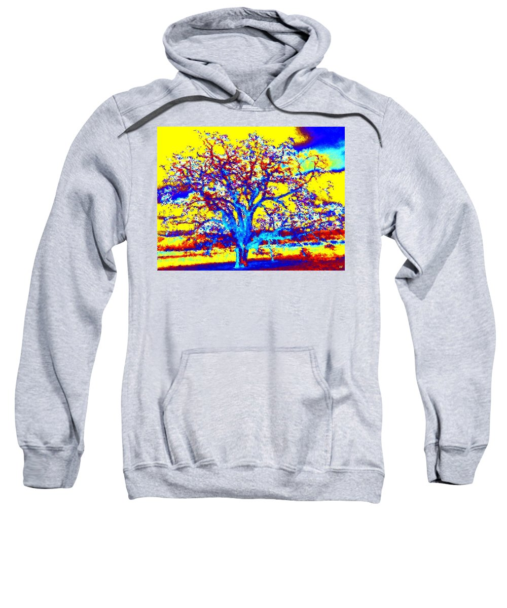 Willborden Sweatshirt featuring the digital art Oak Tree by Will Borden