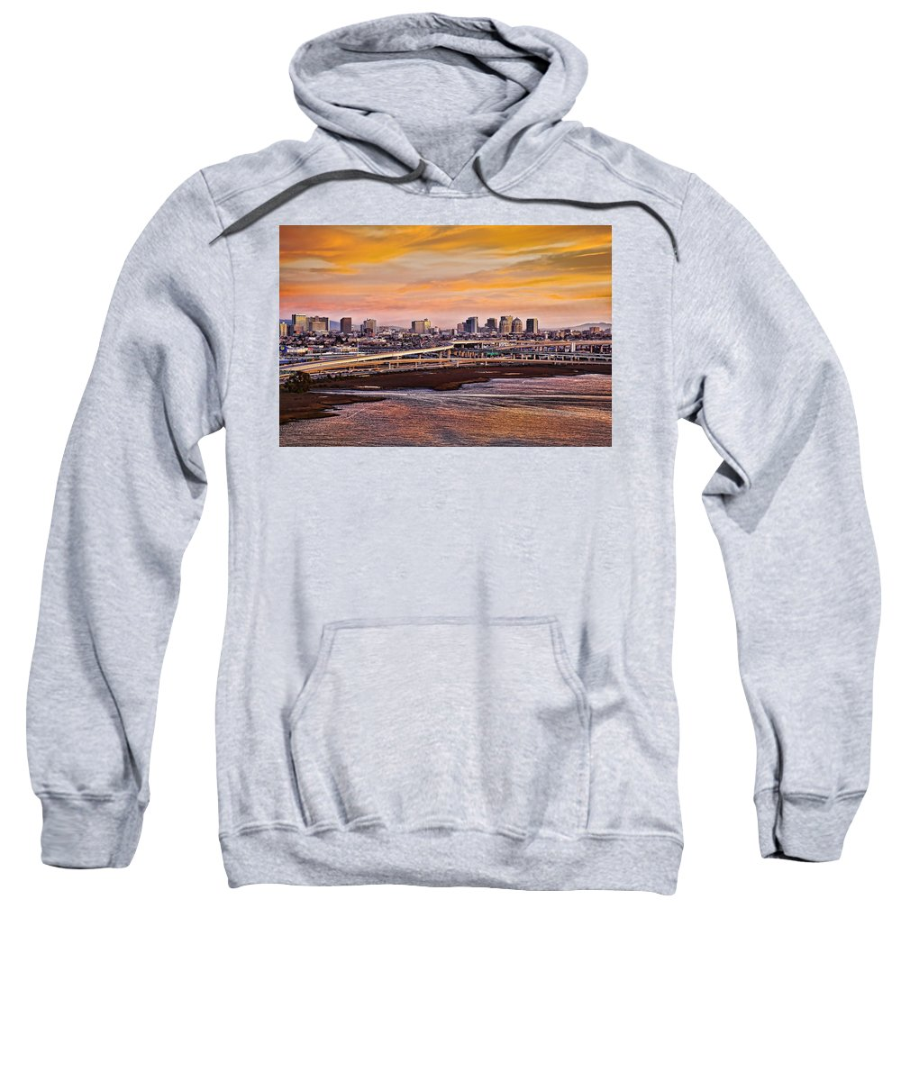Oakland Sweatshirt featuring the photograph Oakland Sunset by Kelley King