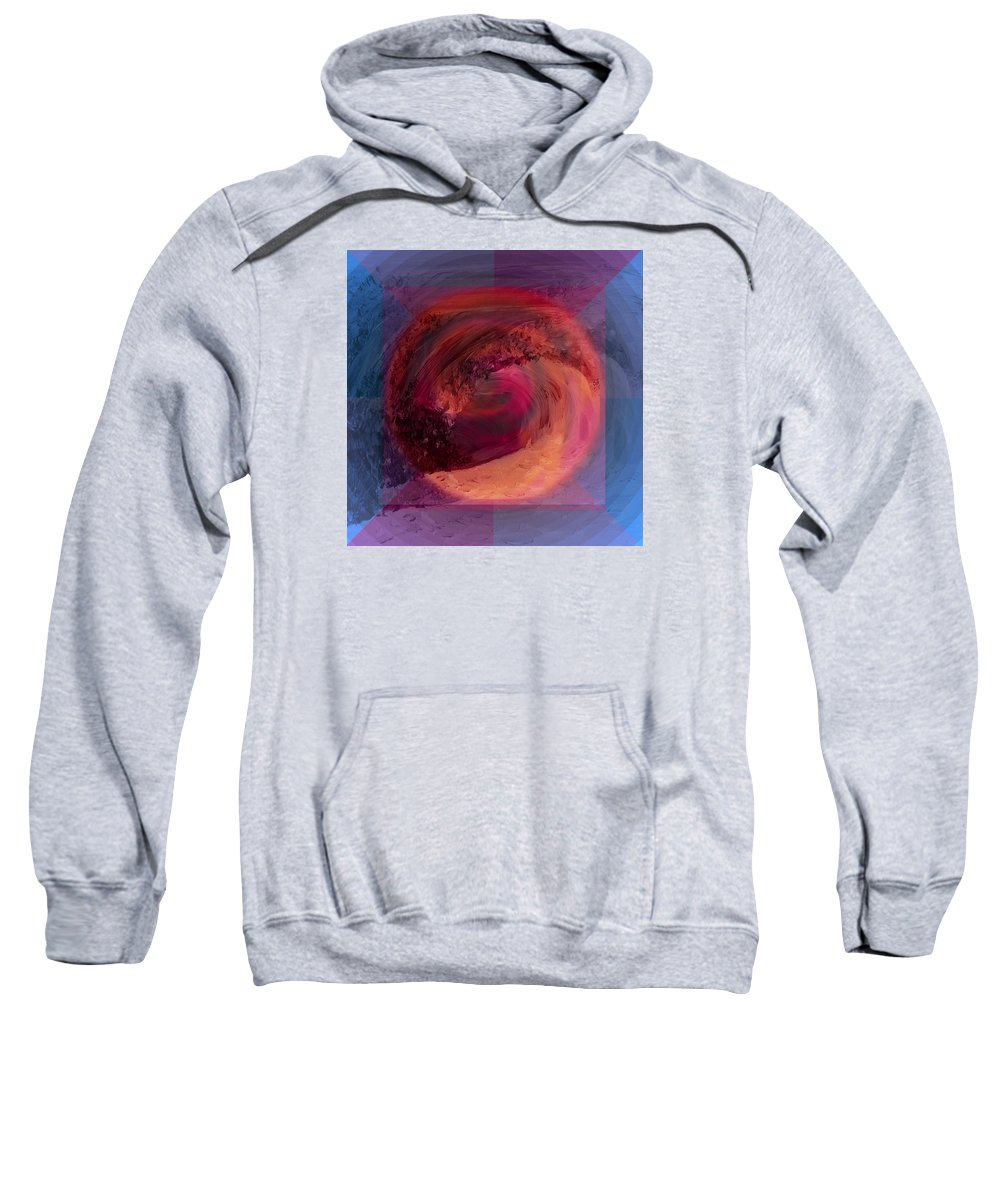 Abstract Sweatshirt featuring the painting Ocean And Earth by Shelley Myers