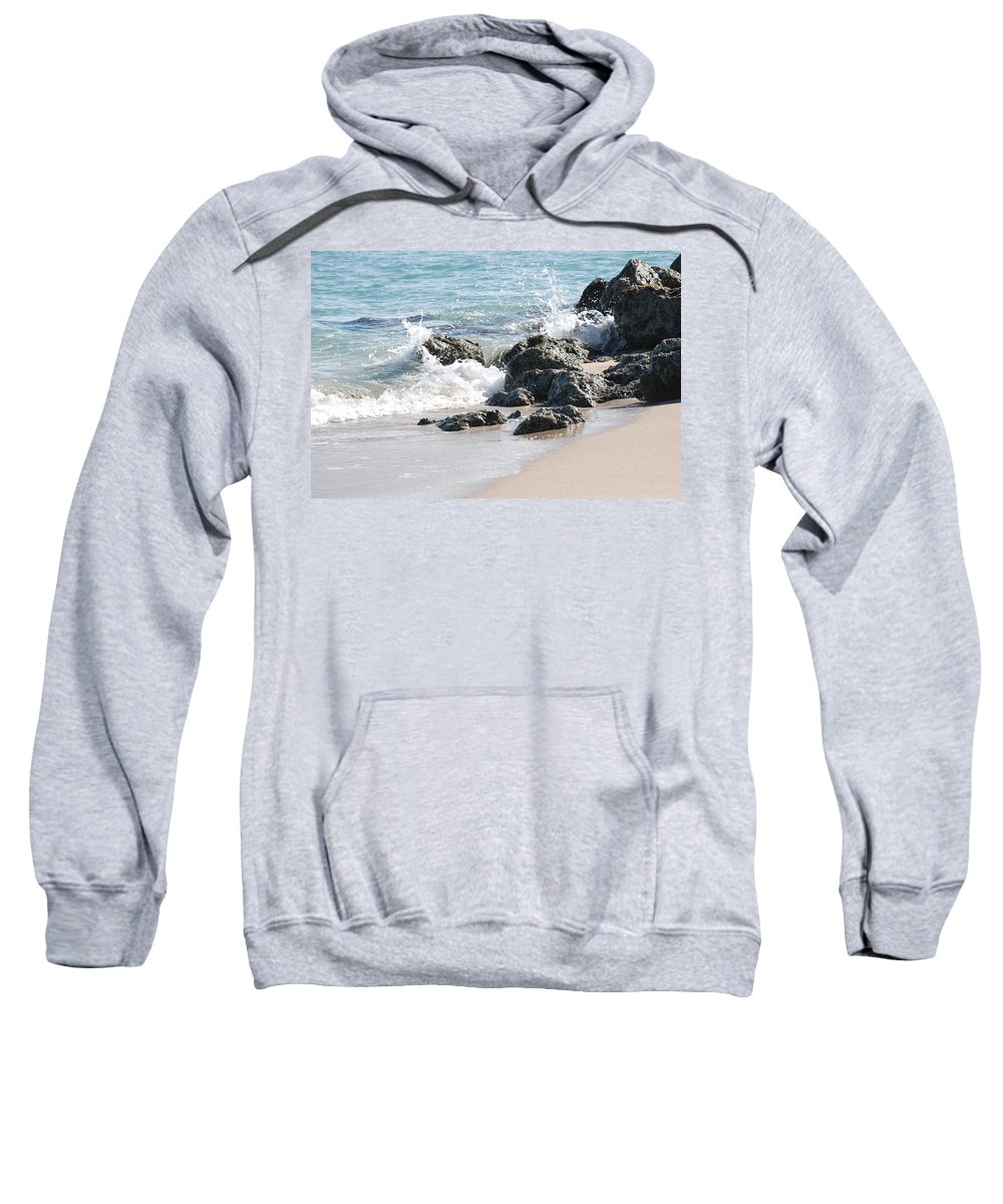 Ocean Sweatshirt featuring the photograph Ocean Drive Rocks by Rob Hans
