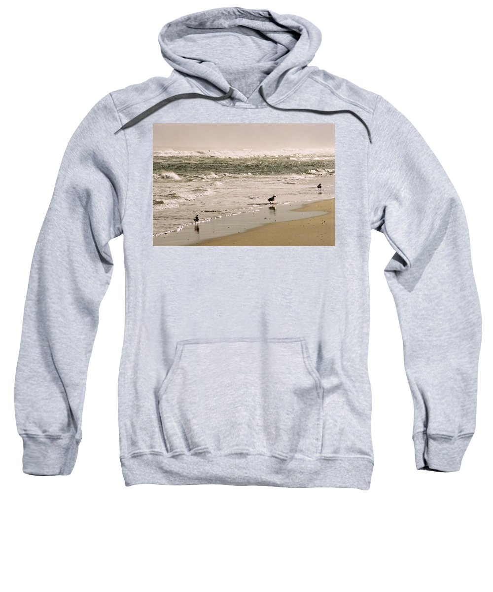 Seascape Sweatshirt featuring the photograph Ocean Edge by Steve Karol