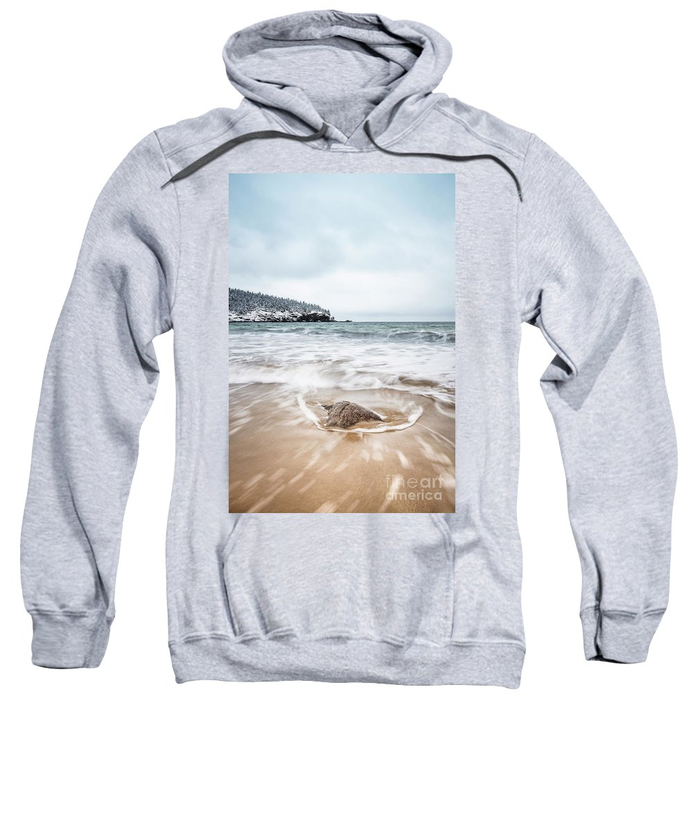 Kremsdorf Sweatshirt featuring the photograph Ocean Flows by Evelina Kremsdorf