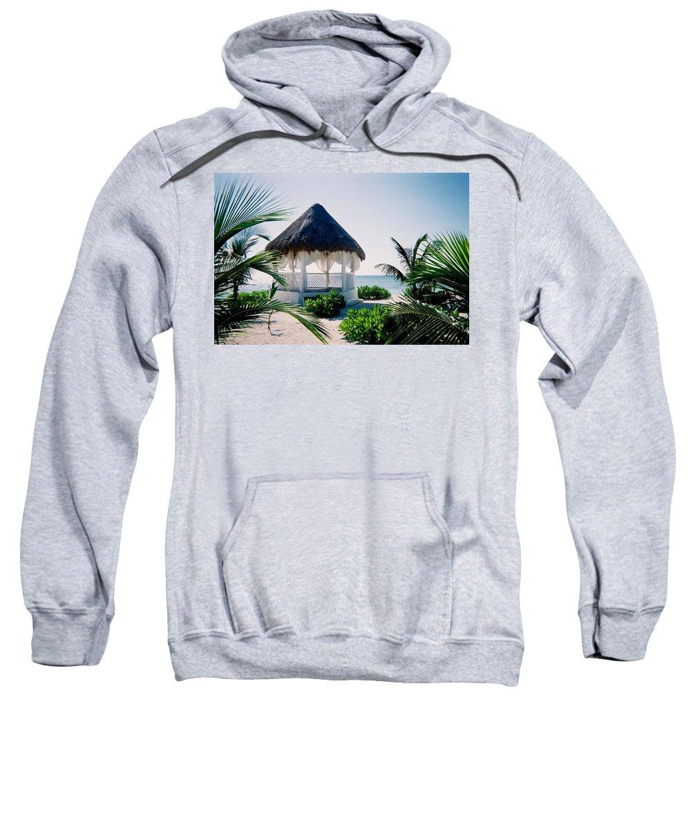 Resort Sweatshirt featuring the photograph Ocean Gazebo by Anita Burgermeister